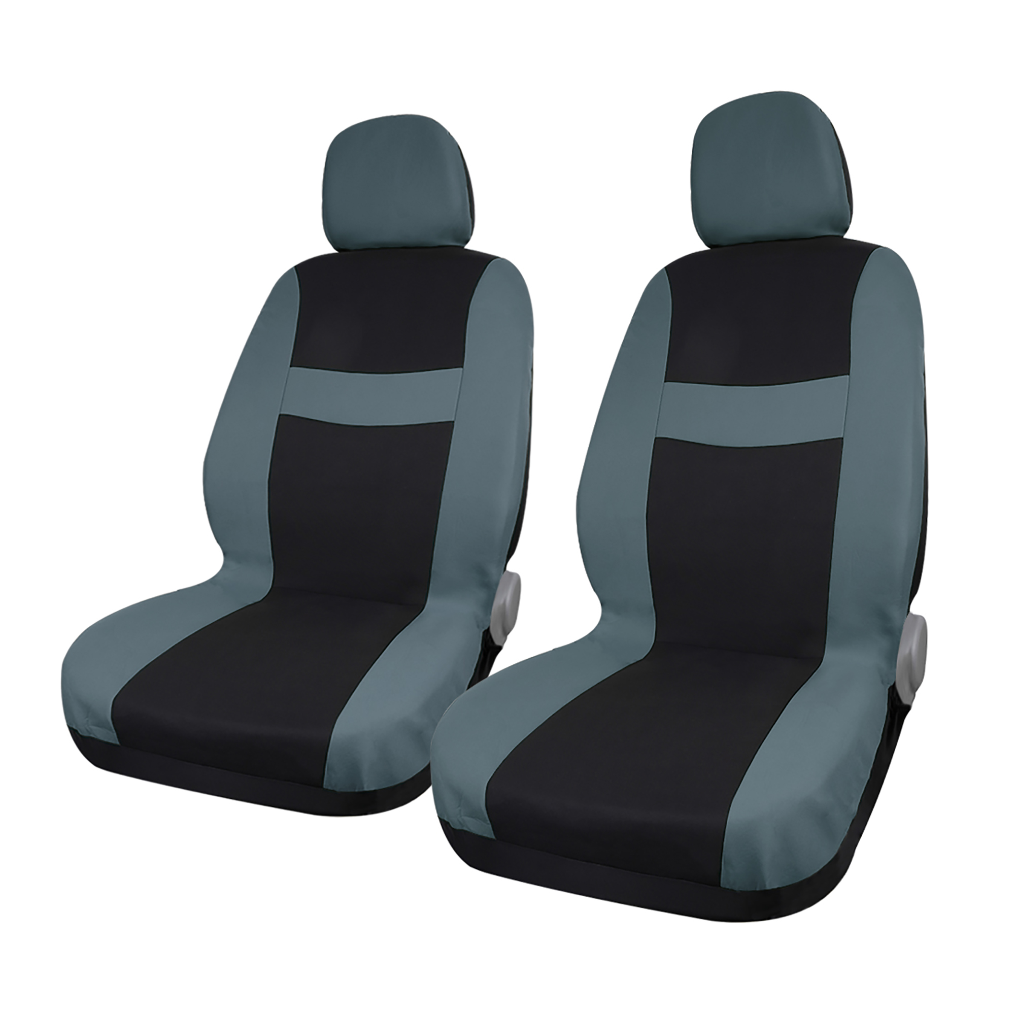 8 piece Gray Black Car Seat Covers with Headrest for Auto Truck