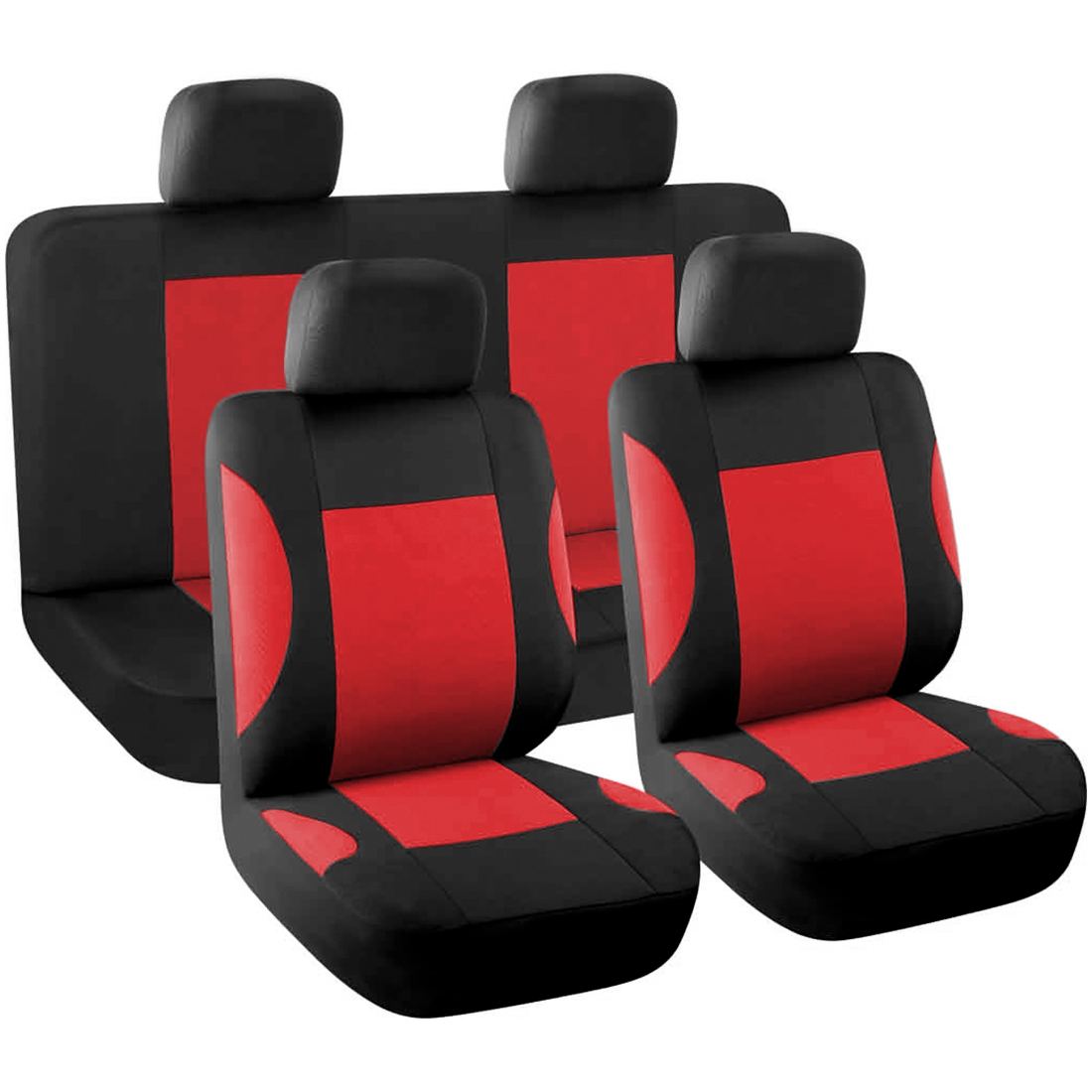 8pcs Styling Auto Interior Accessories Car Seat Cover full set Red