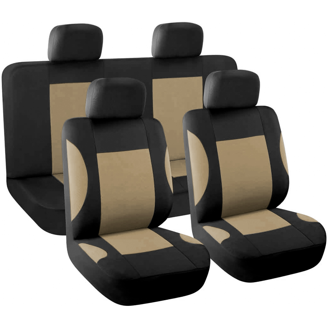 8 piece Styling Auto Interior Accessories Car Seat Cover full set Beige