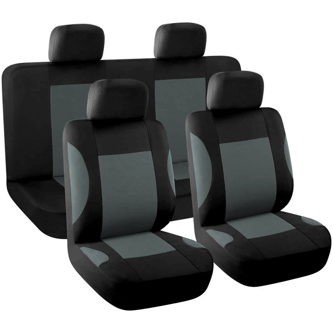 8pcs Styling Auto Interior Accessories Car Seat Cover full set Gray
