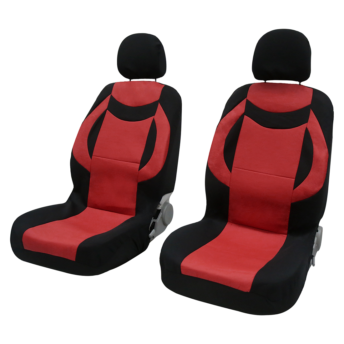 8pcs PU Leather Auto Interior Accessories Car Seat Covers full set Red