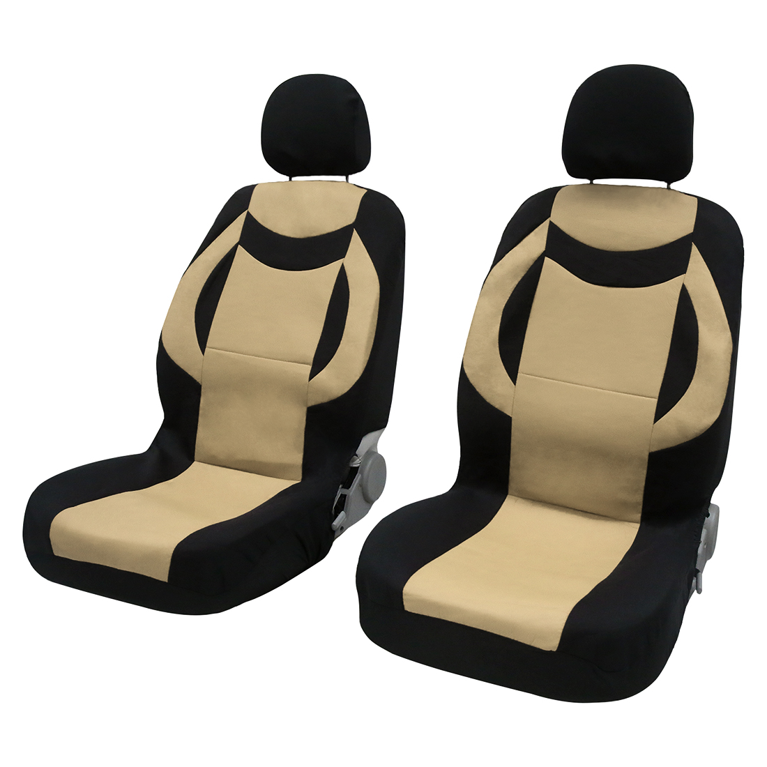 8pcs PU Leather Auto Interior Accessories Car Seat Covers full set Beige
