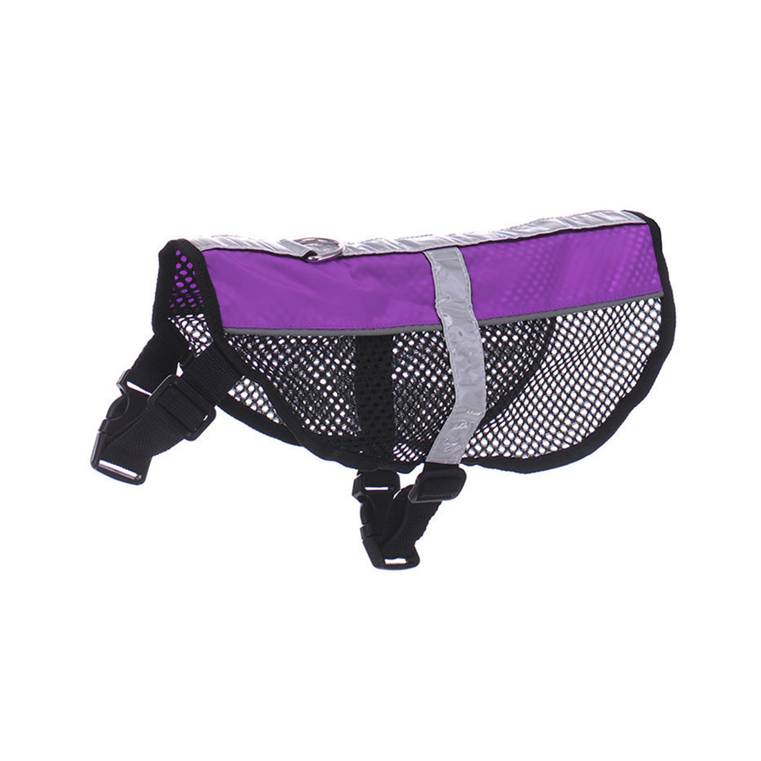 Service Dog Mesh Vest Harness Cool Comfort Nylon High Visibility Safety Jacket Purple S