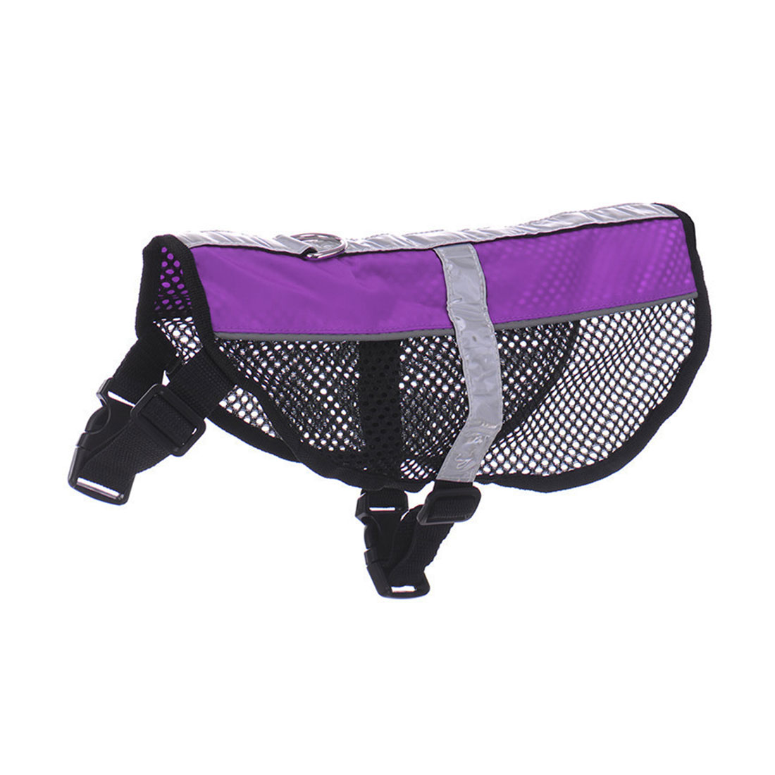Service Dog Mesh Vest Harness Cool Comfort Nylon High Visibility Safety Jacket Purple M