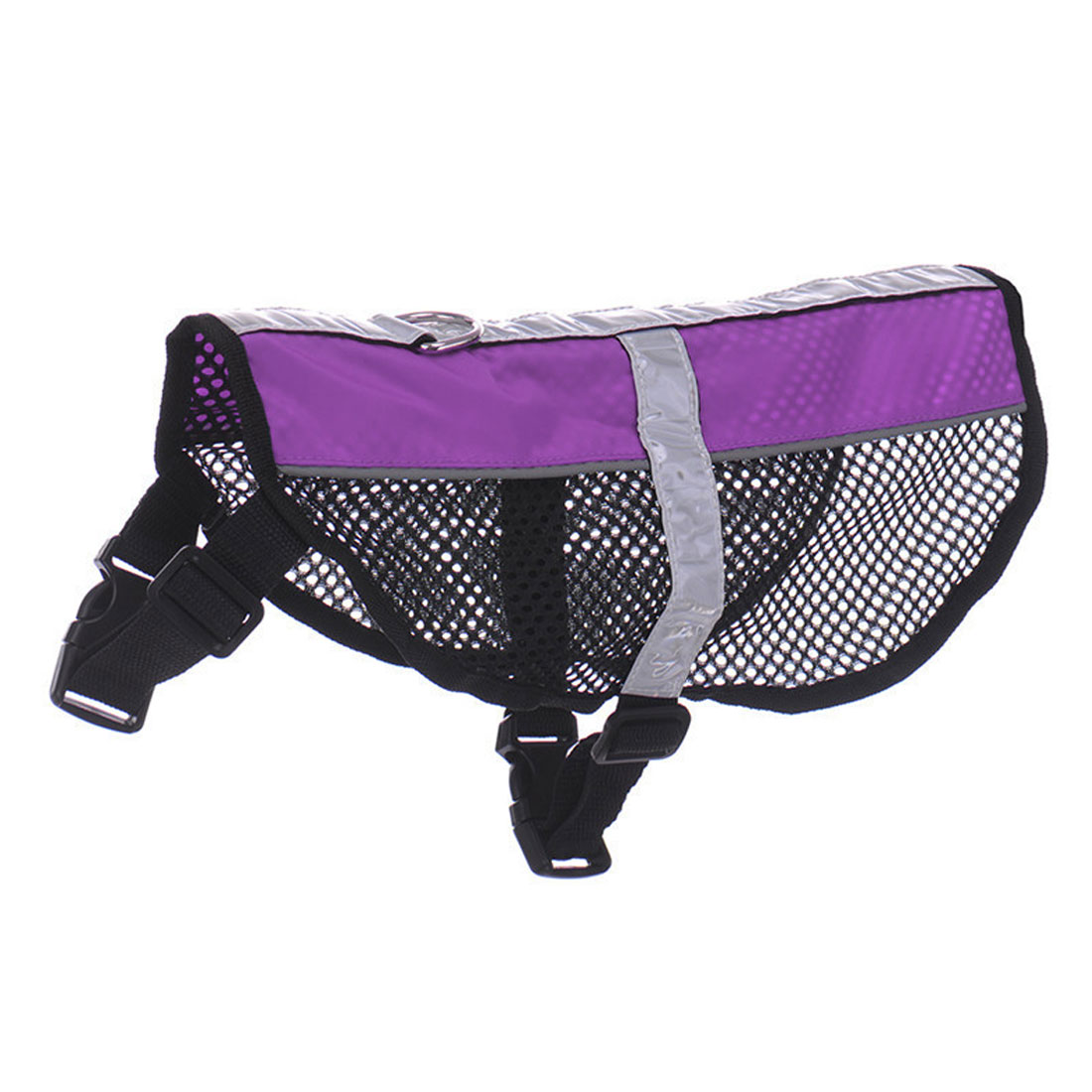 Service Dog Mesh Vest Harness Cool Comfort Nylon High Visibility Safety Jacket Purple L