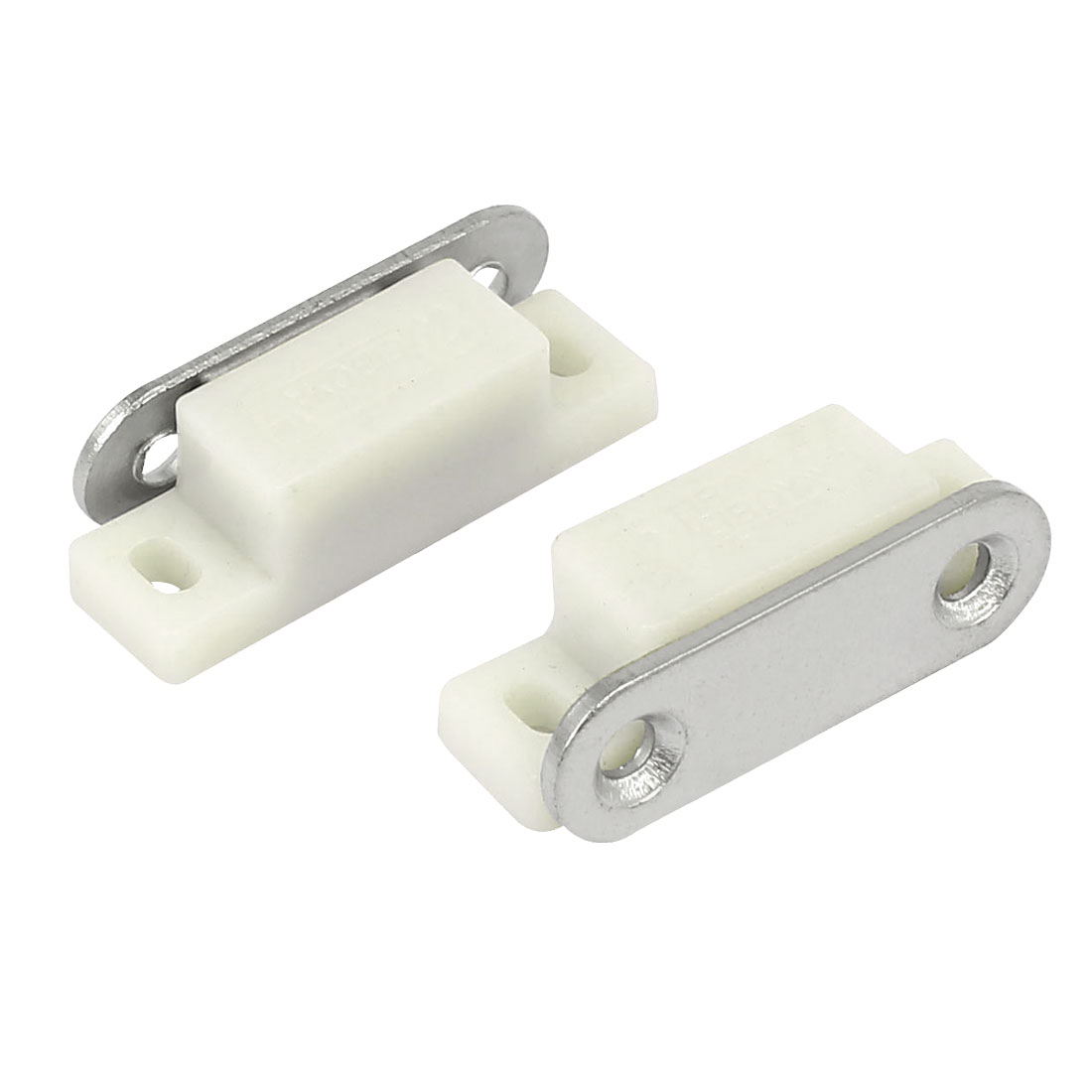 Drawer Cabinet Cupboard Plastic Shell Magnetic Catch Latch White 2PCS