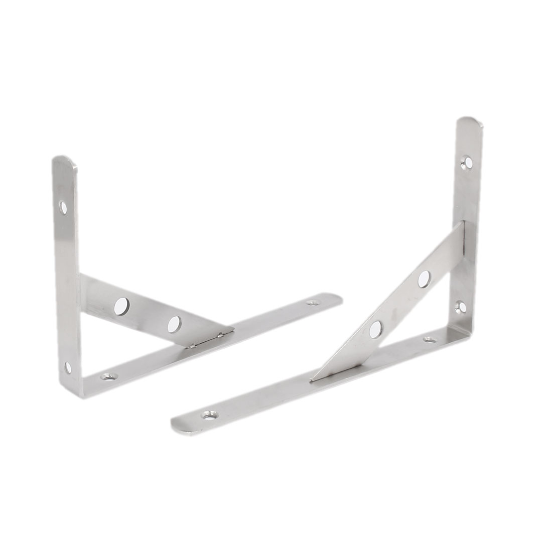 "8"" x 5"" Metal L Shaped Angle Shelf Bracket Support Holder Corner Brace 2PCS"