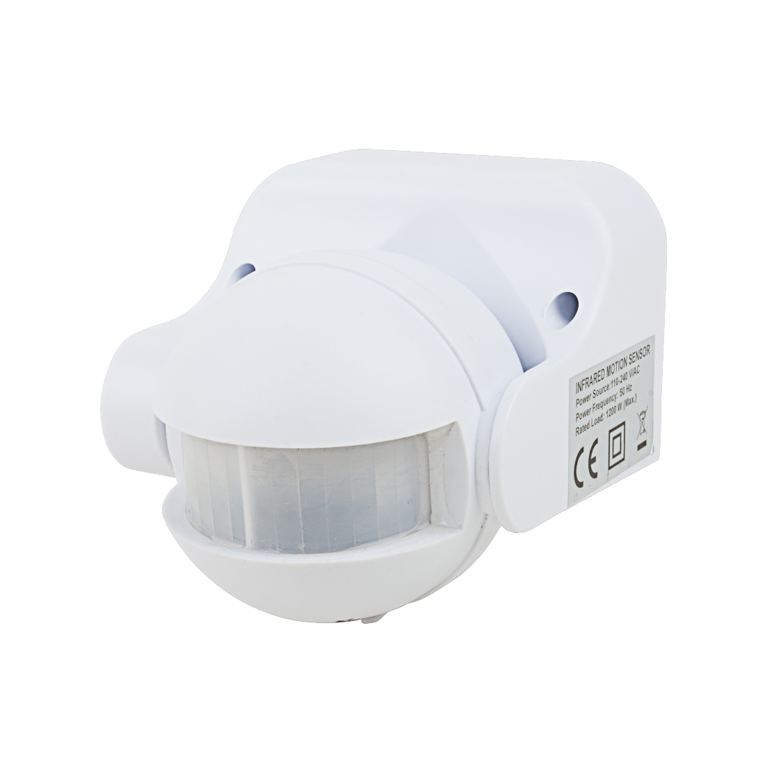 AC110V-240V Outdoor Human Body Infrared Detector Motion Sensor Switch White
