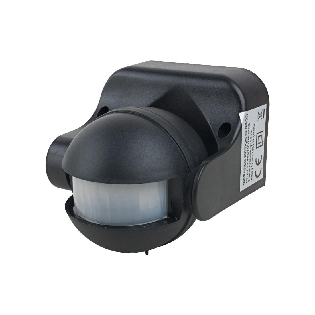 AC110V-240V Outdoor Human Body Infrared Detector Motion Sensor Switch Black