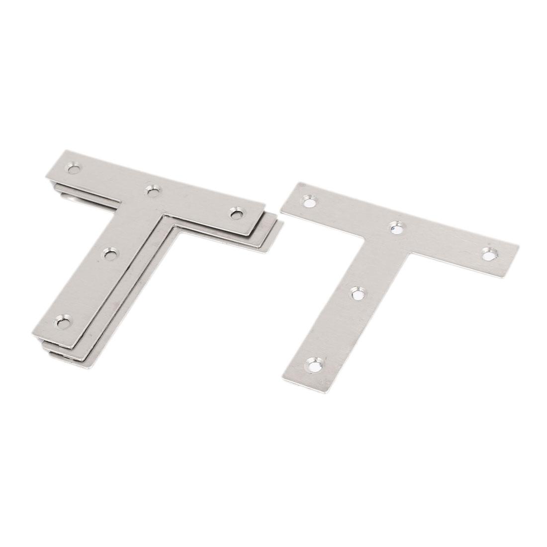 80mmx80mm T Shape Angle Plate Flat Corner Brace Fixing Bracket 4pcs