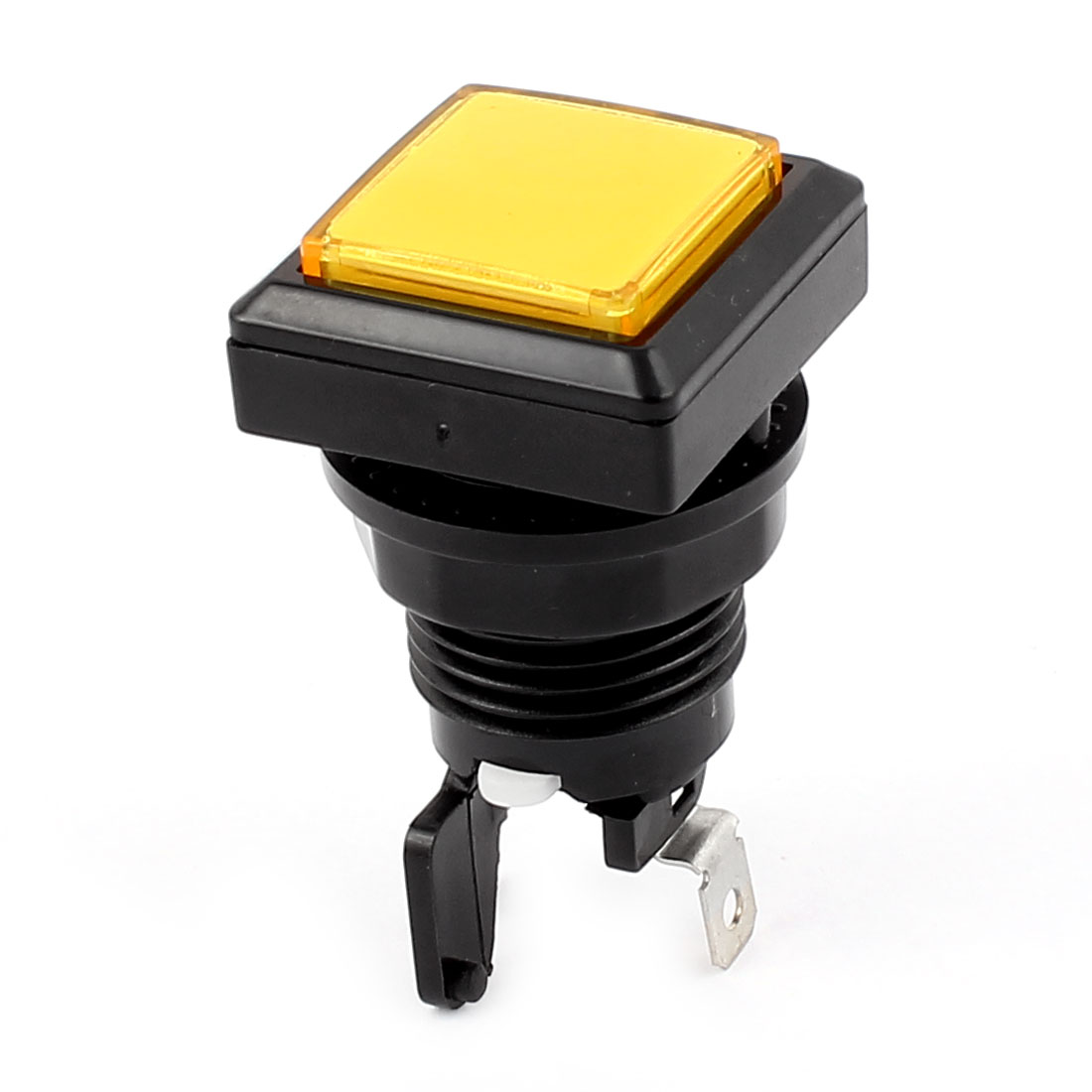 Yellow Square Cap Momentary Push Button Switch for Gaming Machine with Lamp