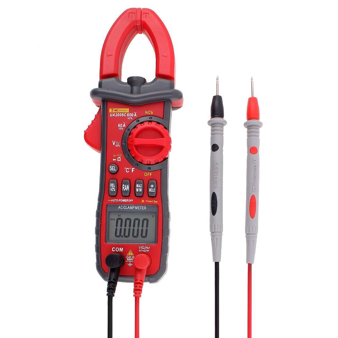 Auto Range Multimeter Current Ohm Non-contact Voltage Detector Resistance Capacitance Frequency Circuit Digital Industrial Handheld Clamp Meter