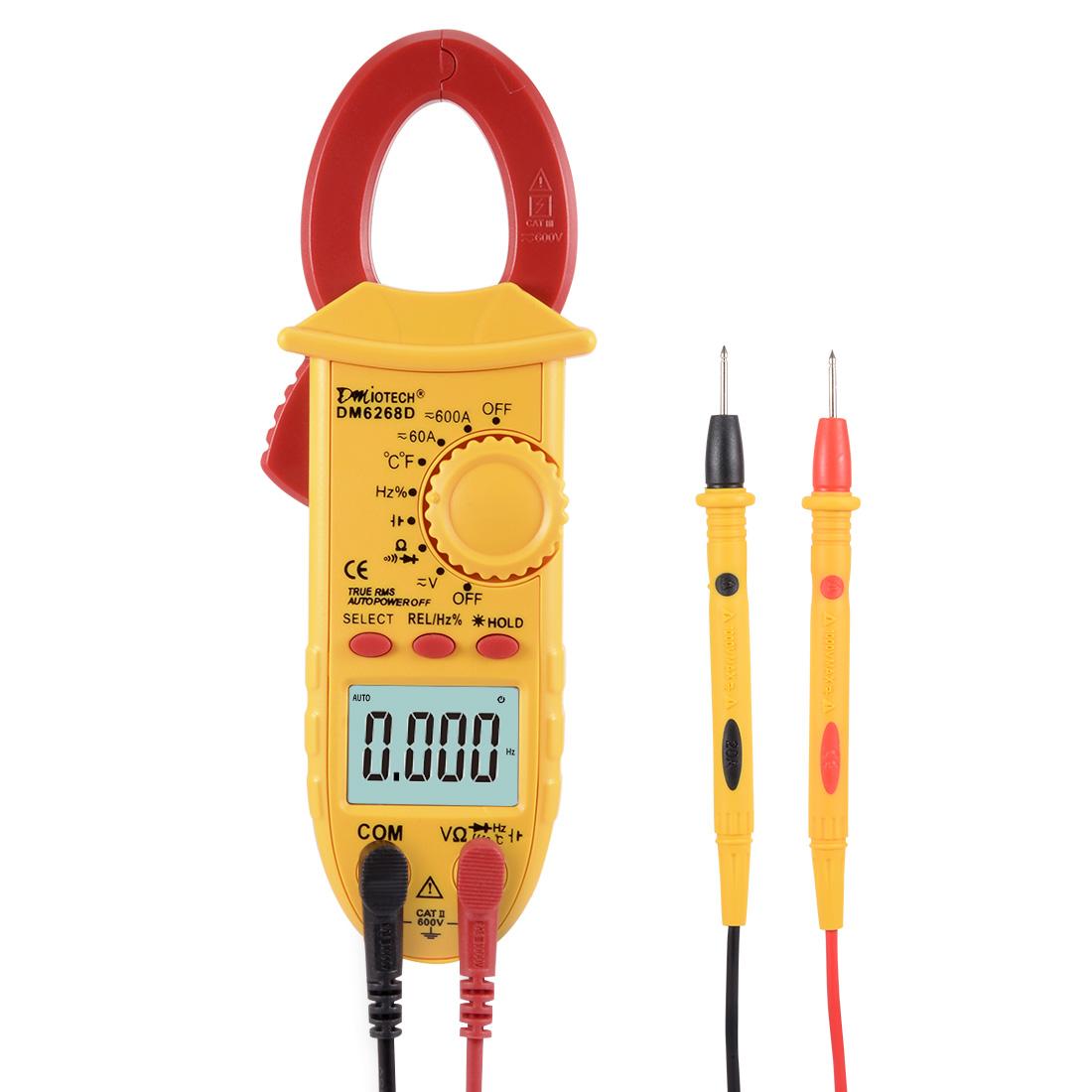 Mini Digital Multimeter AC DC Ammeter Voltage ACV DCV Capacitance Clamp Meter Handheld