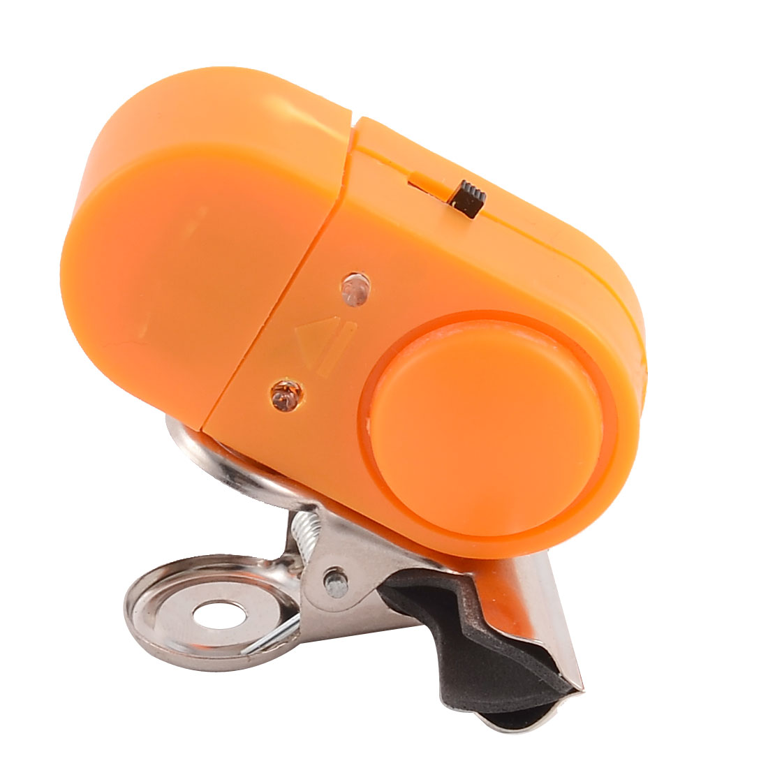 Fishing Rod Plastic Burglar Alarm LED Light Bite Alert Fish Bell Clip Orange