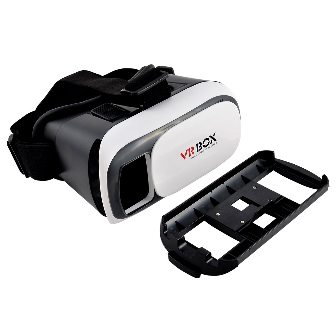 Universal Adjustable Lens T-shaped Straps 3D VR Head Virtual Video Glasses Black White