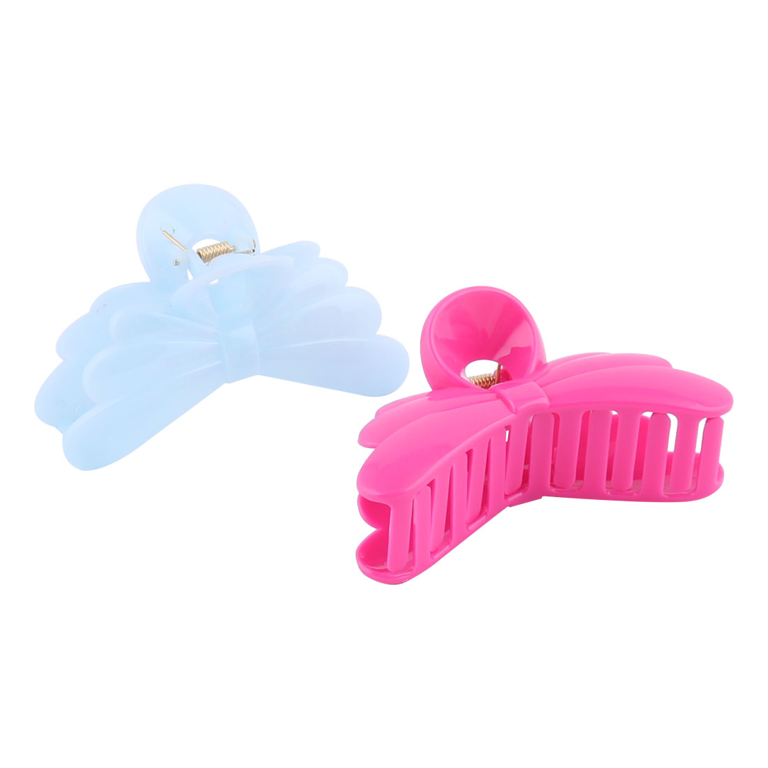 Ladies Plastic Butterfly Shape Bathing Barrette Claw Clamp Clip Hair Pin 2pcs