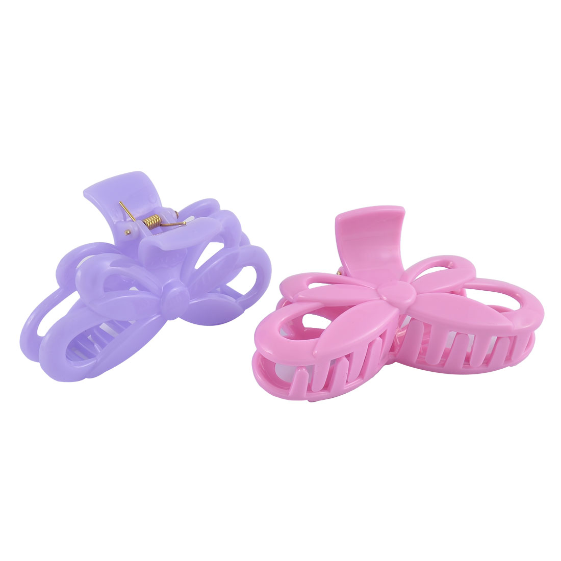 Ladies Plastic Butterfly Shape Clamp Teeth Design Hair Claw Clip Clamp 2pcs