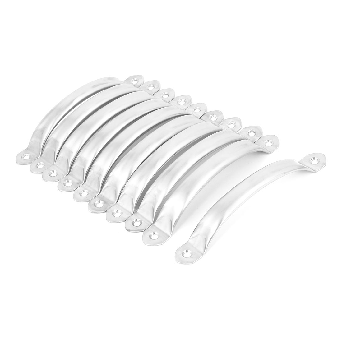 Closet Dresser Stainless Steel Arch Style Pull Handle Silver Tone 150x18x24mm 20pcs