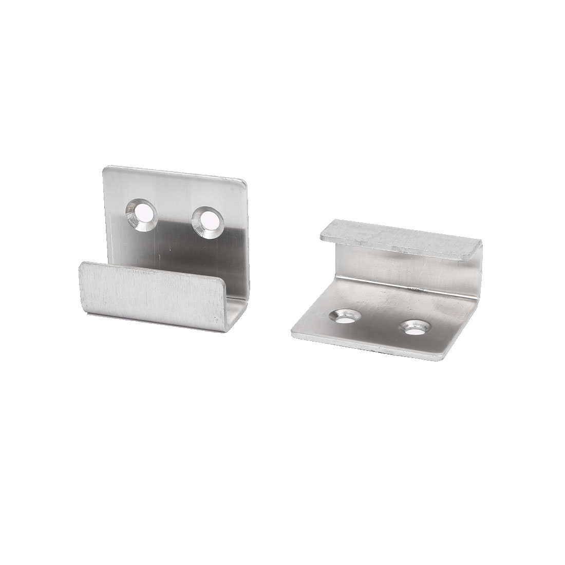 Ceramic Tile Display Stainless Steel Wall Hanger Fastener Silver Tone 2pcs