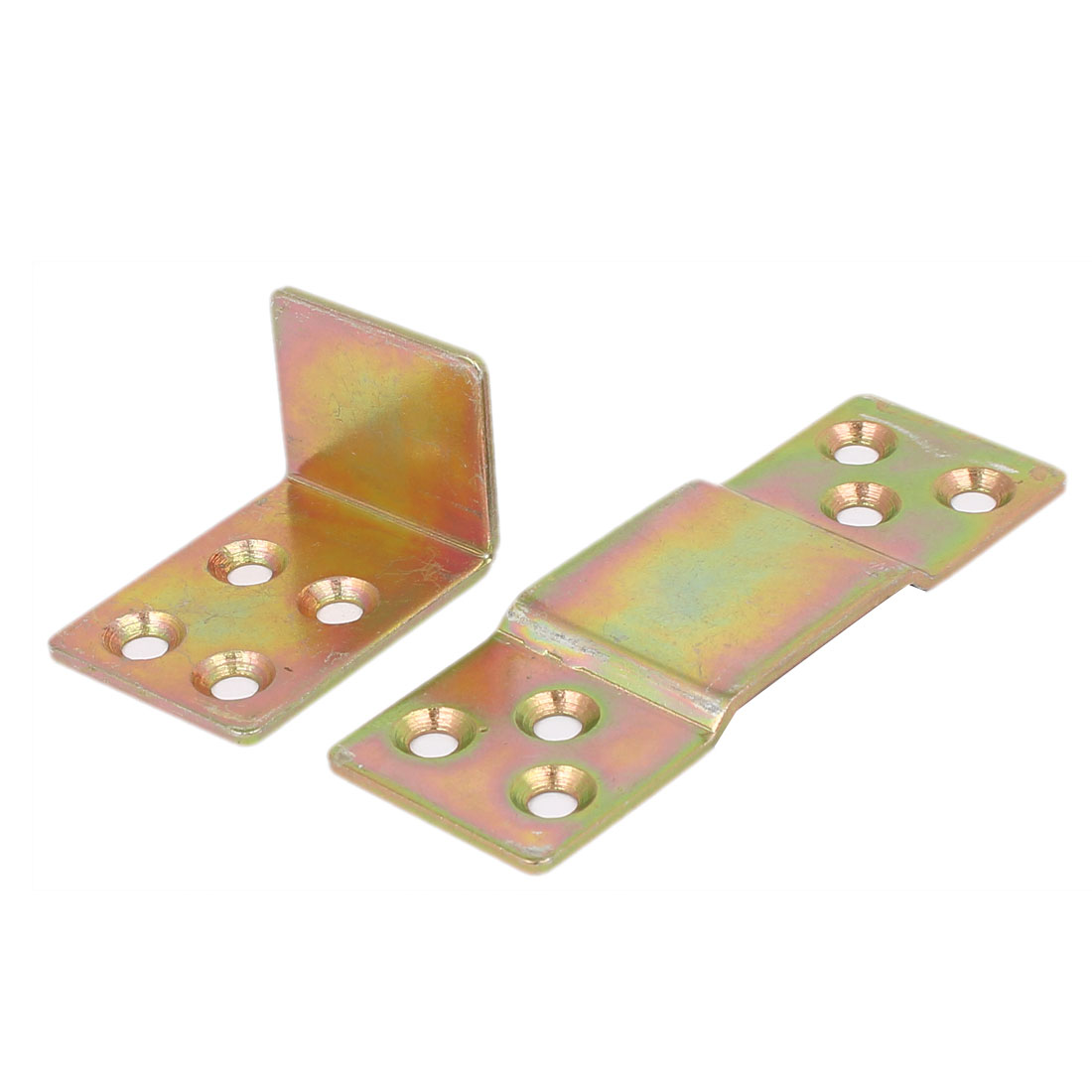 90mm x 40mm x 25mm Metal Bed Connection Hinge Furniture Buckle Bronze Tone