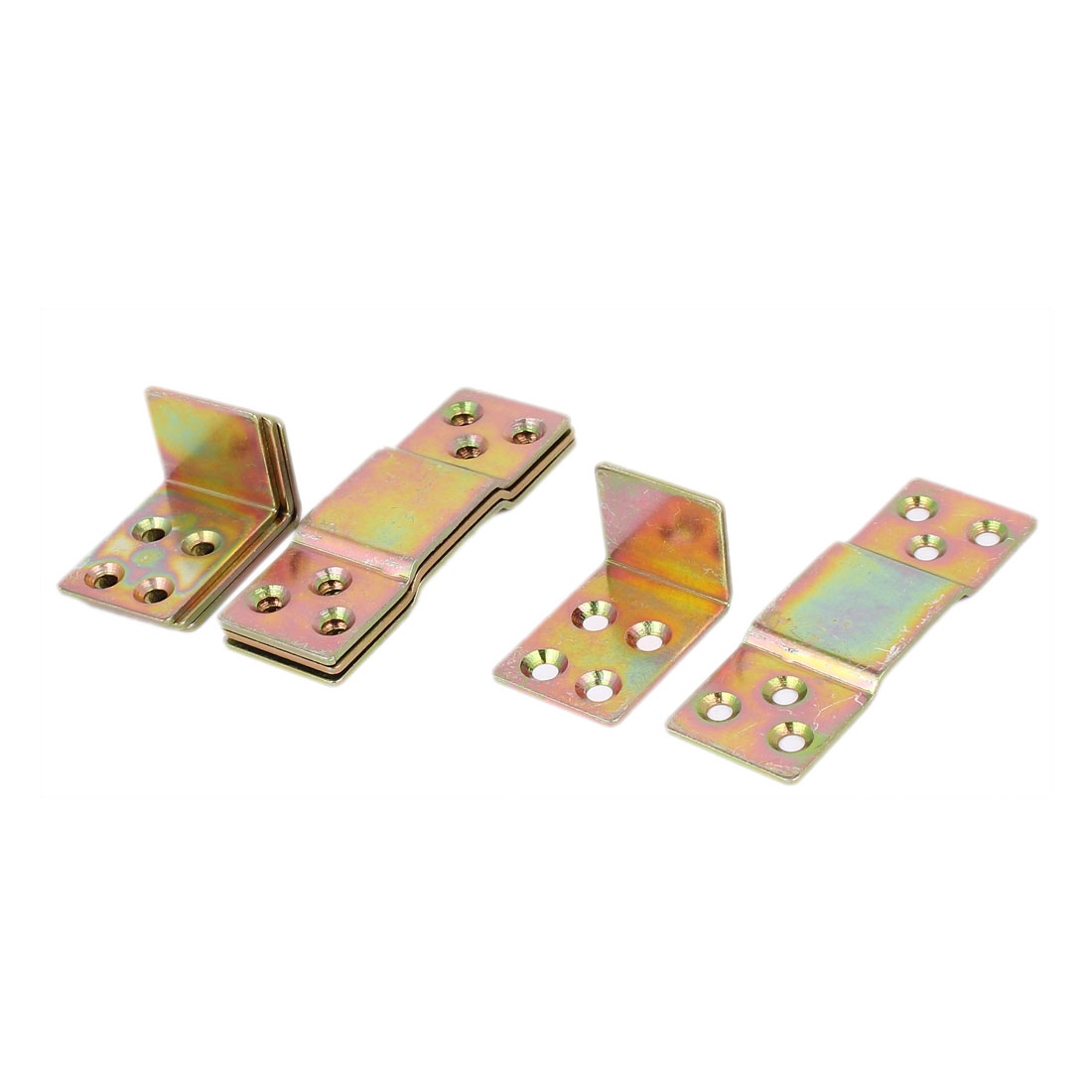 90mm x 40mm x 25mm Metal Bed Connection Hinge Furniture Buckle 4pcs