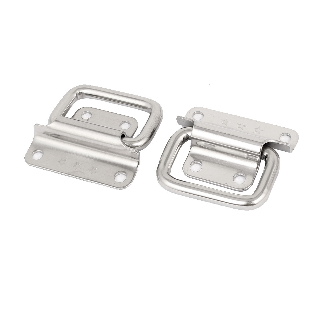 "Toolbox Stainless Steel 90-Degree Puller Chest Handle Silver Tone 2"" Length 2pcs"