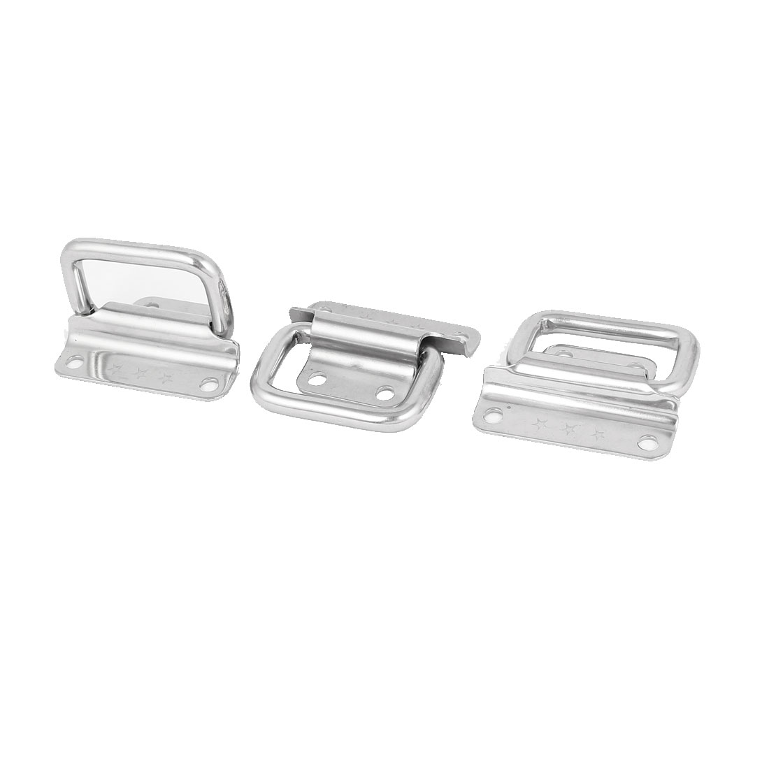 "Toolbox Stainless Steel 90-Degree Puller Chest Handle Silver Tone 2"" Length 3pcs"