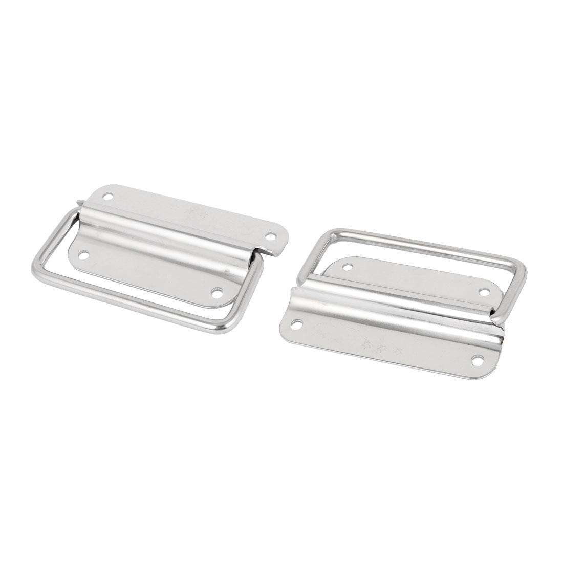 """Toolbox Stainless Steel 90-Degree Puller Chest Handle Silver Tone 4"""" Length 2pcs"""