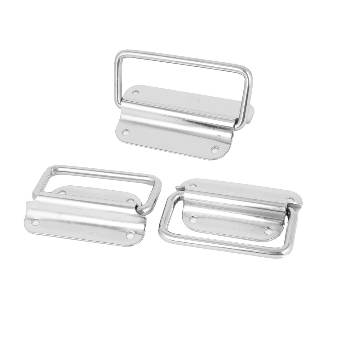 "Toolbox Stainless Steel 90-Degree Puller Chest Handle Silver Tone 4"" Length 3pcs"