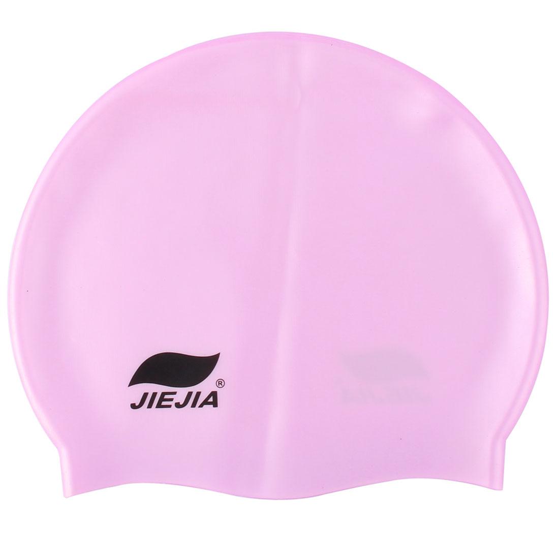 Swimming Sport Silicone Flexible Swim Cap Hat Hair Cover Protector Purple