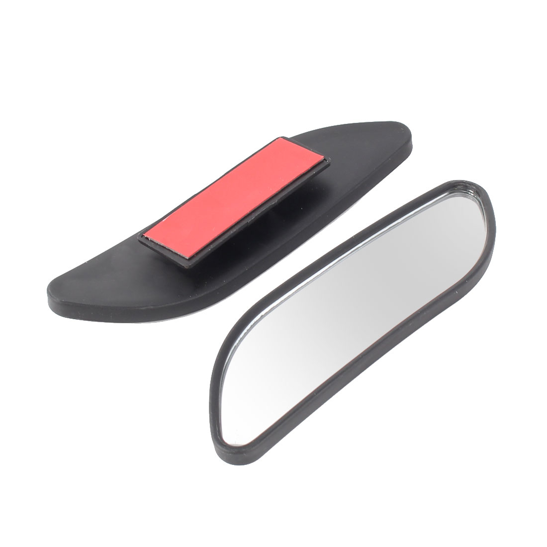 Car Automobile Parallelogram Shape Convex Rear View Blind Spot Wide Mirror 12cm Long 2pcs