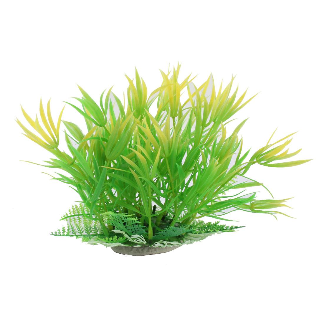 Aquarium Ceramic Base Plastic Silmulation Aquatic Plant Grass Waterweeds Decoration