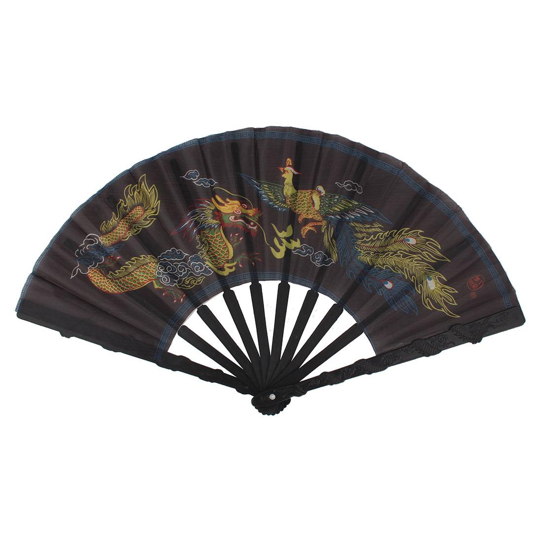 Summer Plastic Frame Dragon Pattern Handmade Cooling Handheld Folding Fan