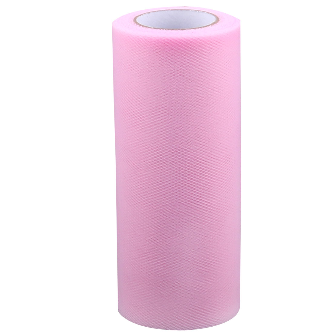 Wedding Party Banquet Nylon Mesh Tulle Roll Spool Craft Decoration Pink 25 Yards