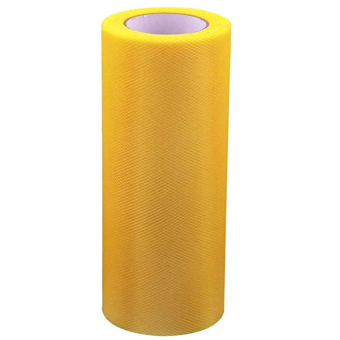 Wedding Party Banquet Decor Nylon Mesh Tulle Roll Spool Dark Yellow 25 Yards