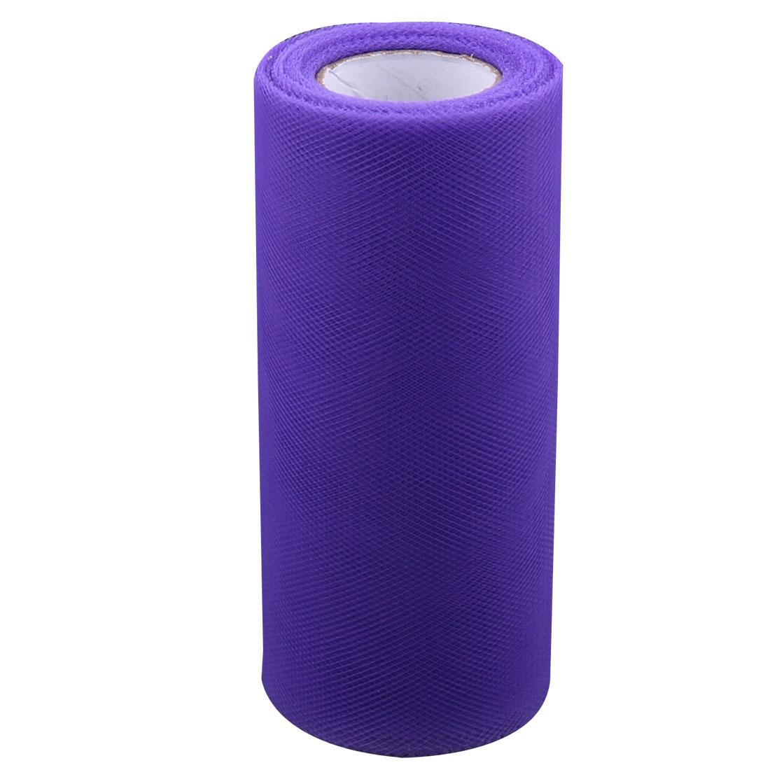 Wedding Party Banquet House Nylon Mesh Tulle Roll Spool Decor Dark Purple 25 Yards