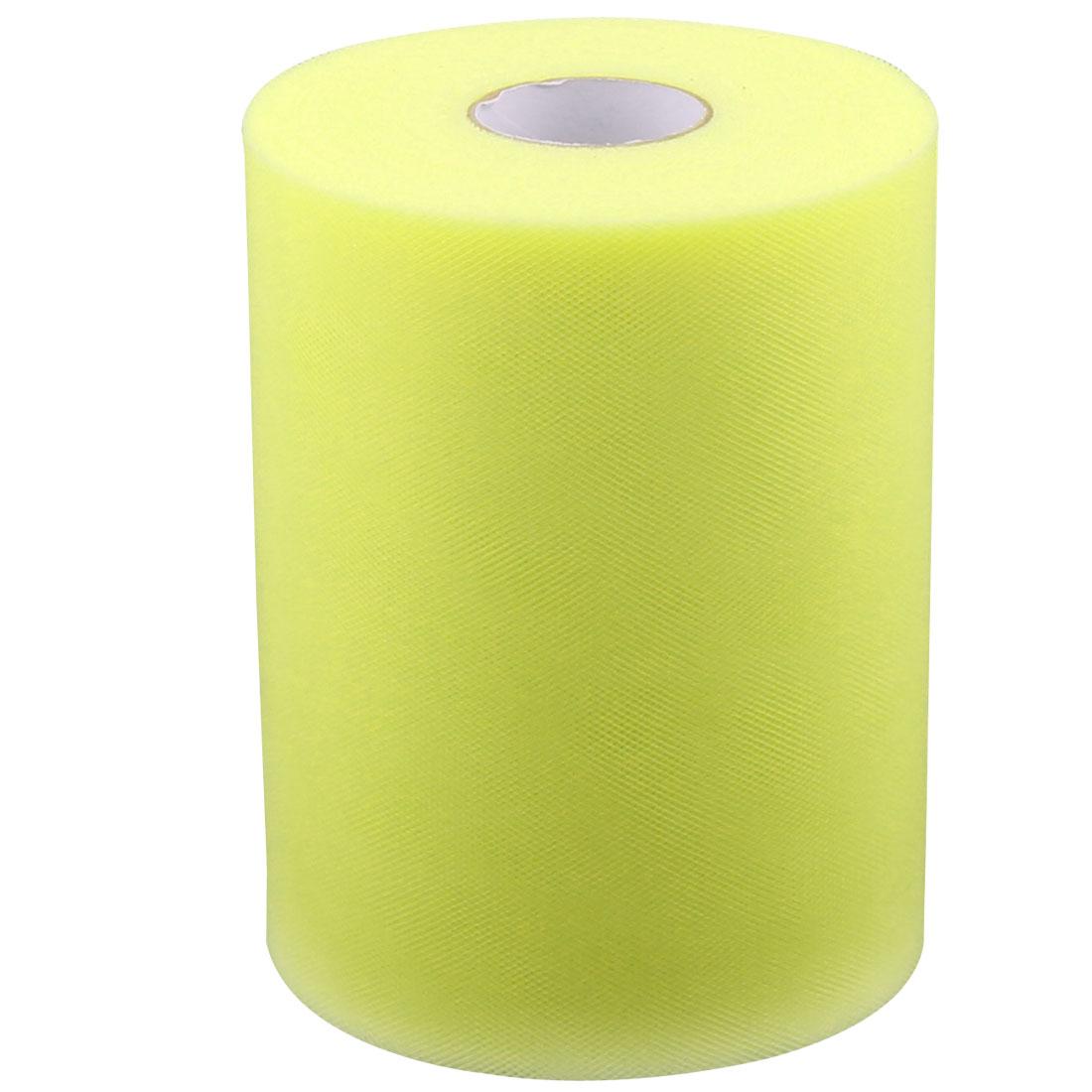 Banquet Wedding Party Nylon DIY Tutu Tulle Spool Decor Light Yellow 100 Yards