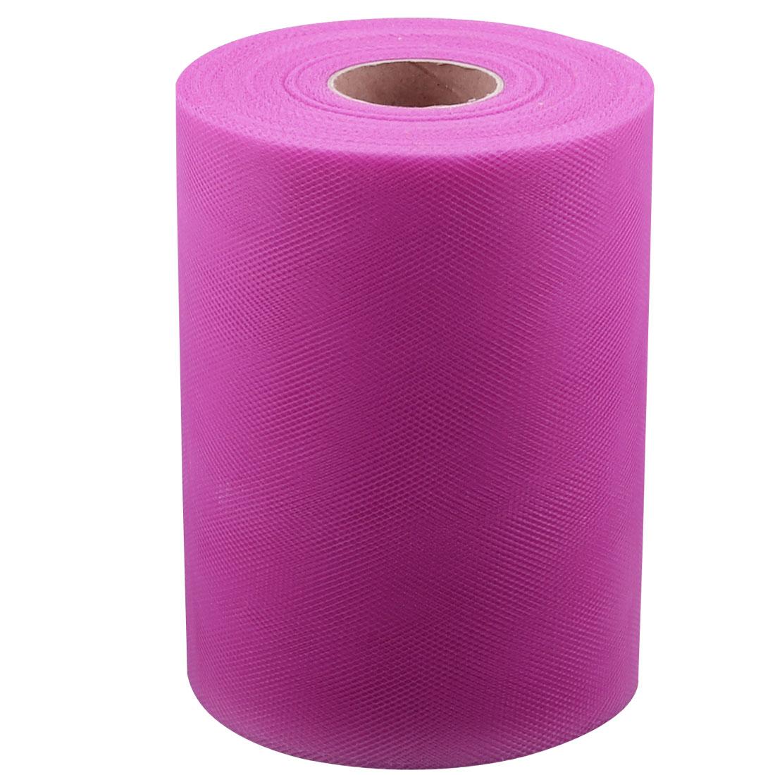 Banquet Wedding Party Nylon Fabric DIY Tutu Tulle Roll Spool Decor Fuchsia 100 Yards