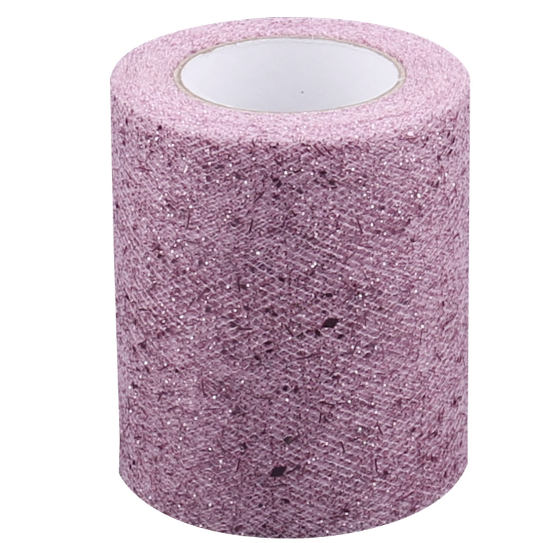 Wedding Banquet Party DIY Tutu Chair Glitter Sparkling Tulle Spool Pink 25 Yards
