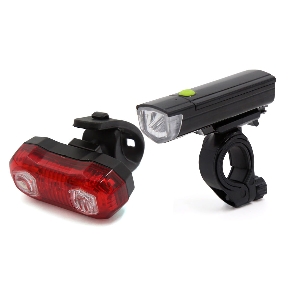 Waterproof Lamp Bike Bicycle Front LED Head Light Rear Safety Flashlight Set