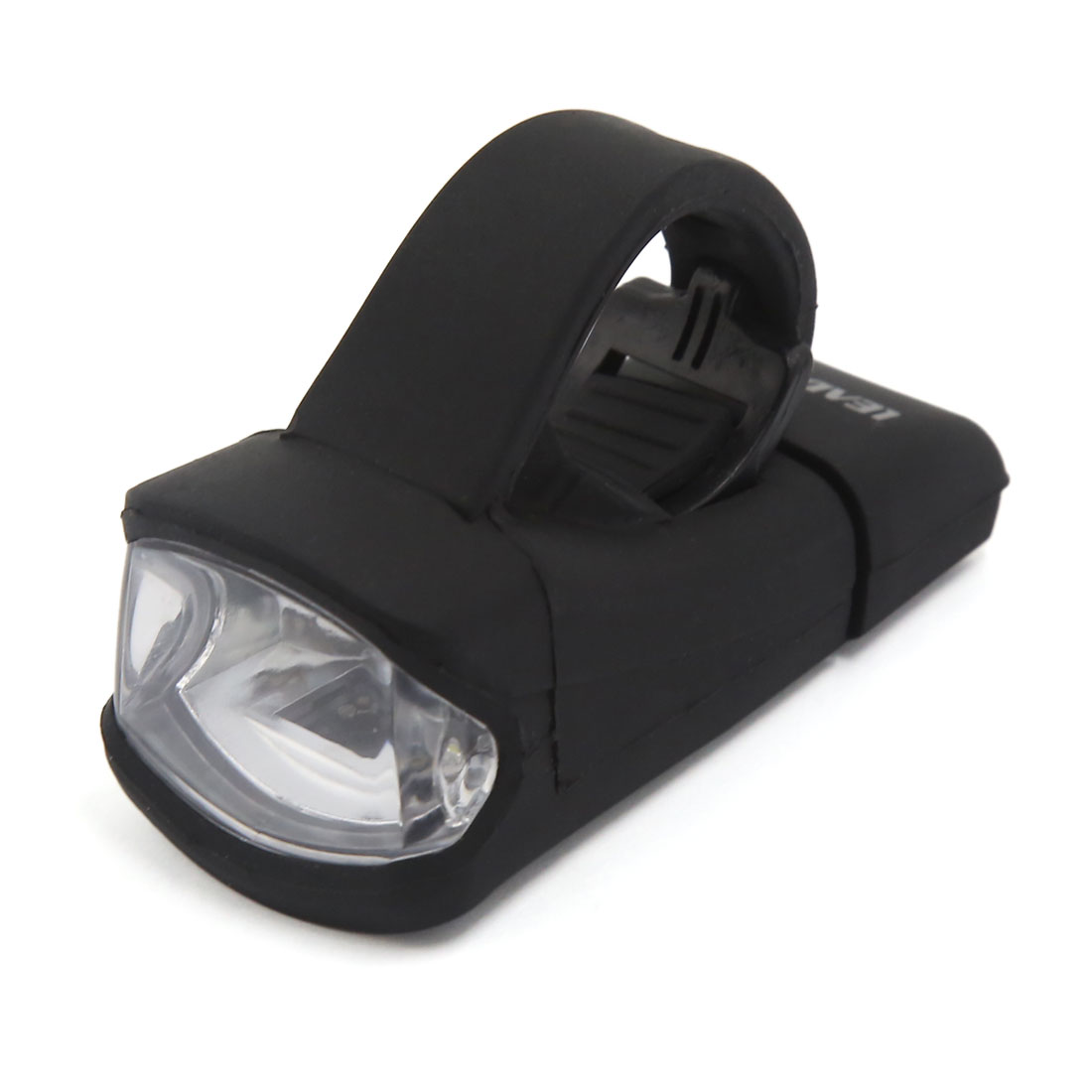 Waterproof Silicone Rechargeable Bicycle Head Front White LED Flash Light Lamp Black