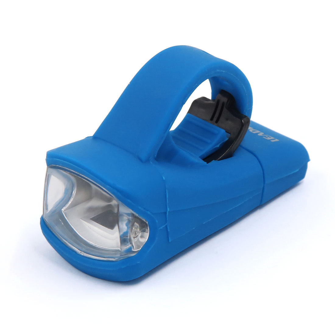 Waterproof Silicone Rechargeable Bike Head Front FlashLight White LED Lamp Blue