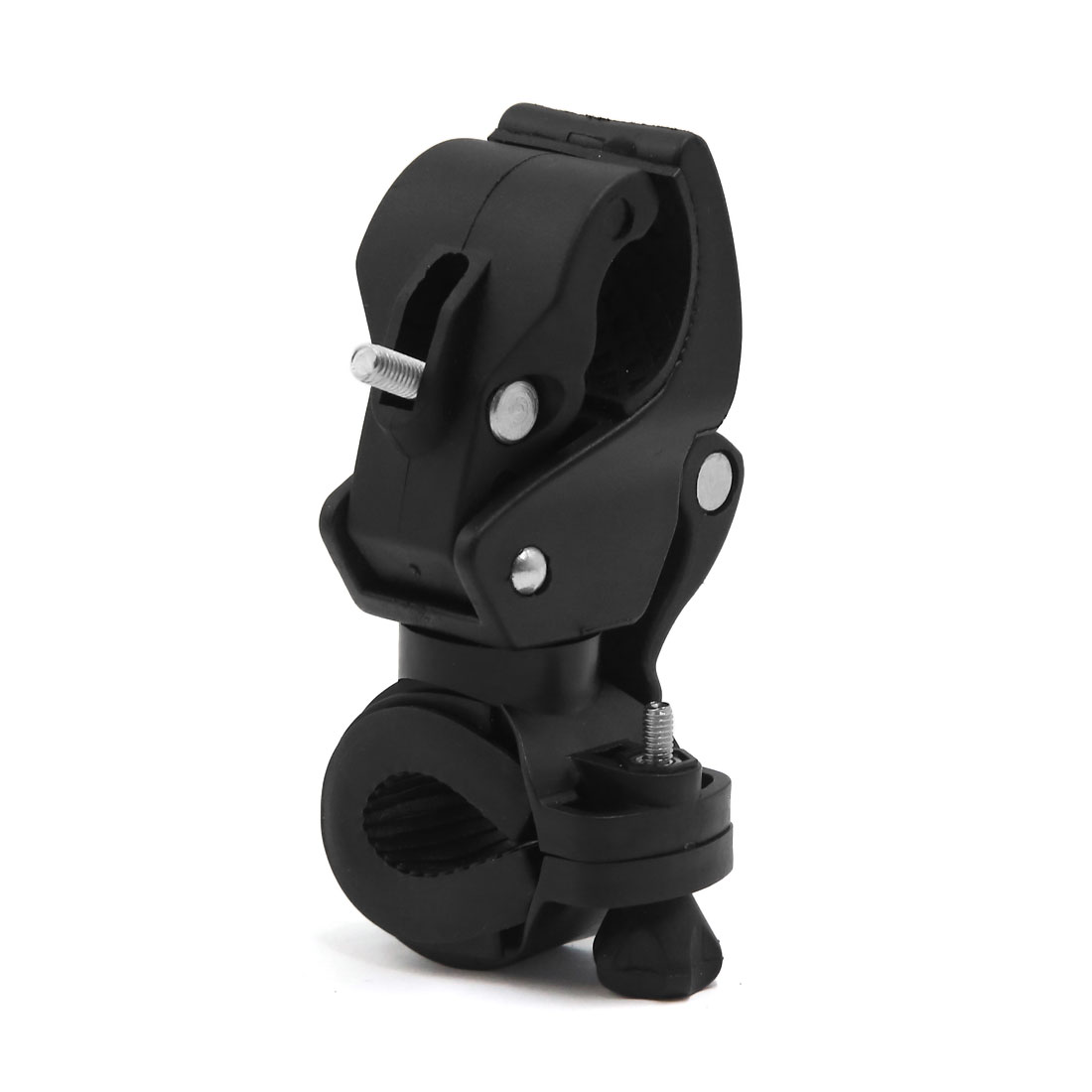Black Universal Plastic Rubber Front Light Lamp Holder Bracket for Bike Bicycle