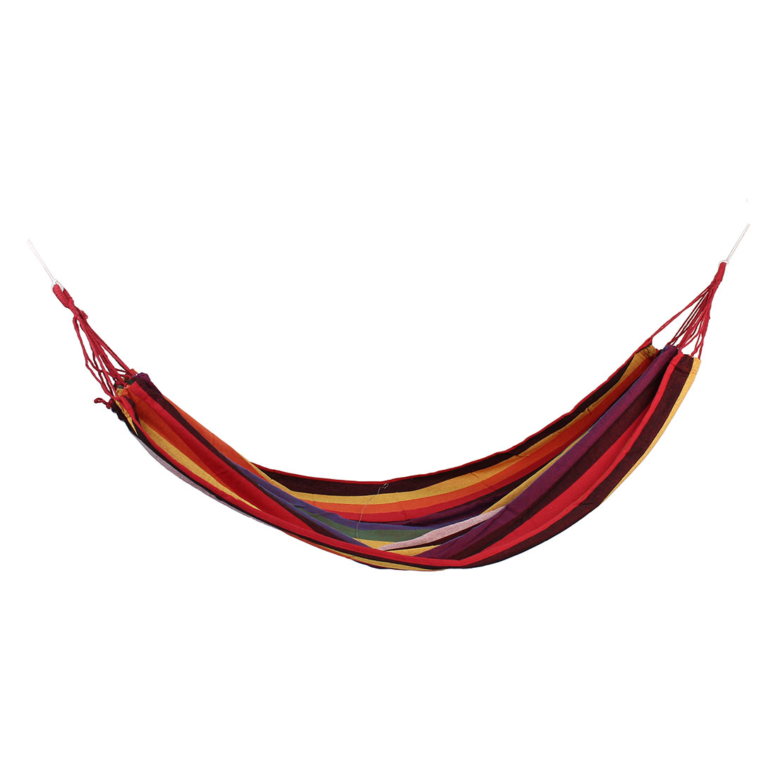 Camping Travel Beach Canvas Stripe Pattern Rope Swing Bed Tree Hanging Suspended Hammock