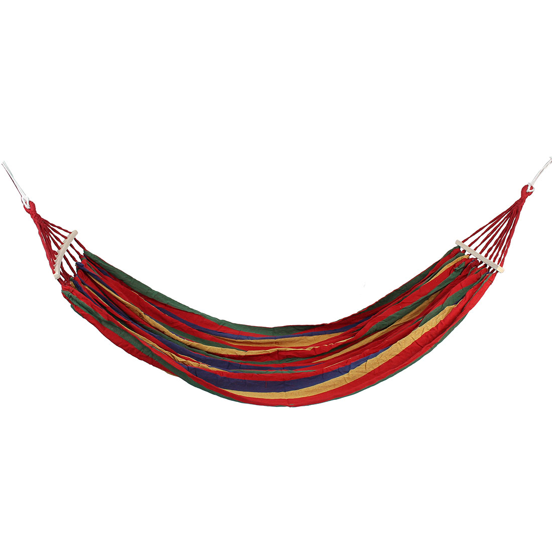 Camping Travel Hiking Canvas Spreader Bars Swing Hanging Bed Suspended Hammock