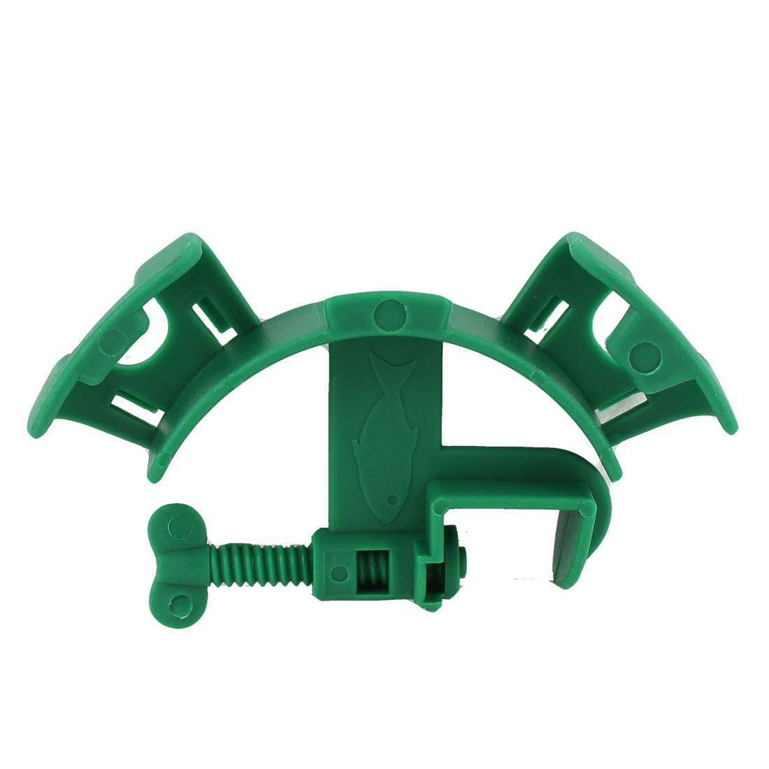 Aquarium Fish Tank Plastic Mounting Filtration Water Pipe Tube Hose Holder Green