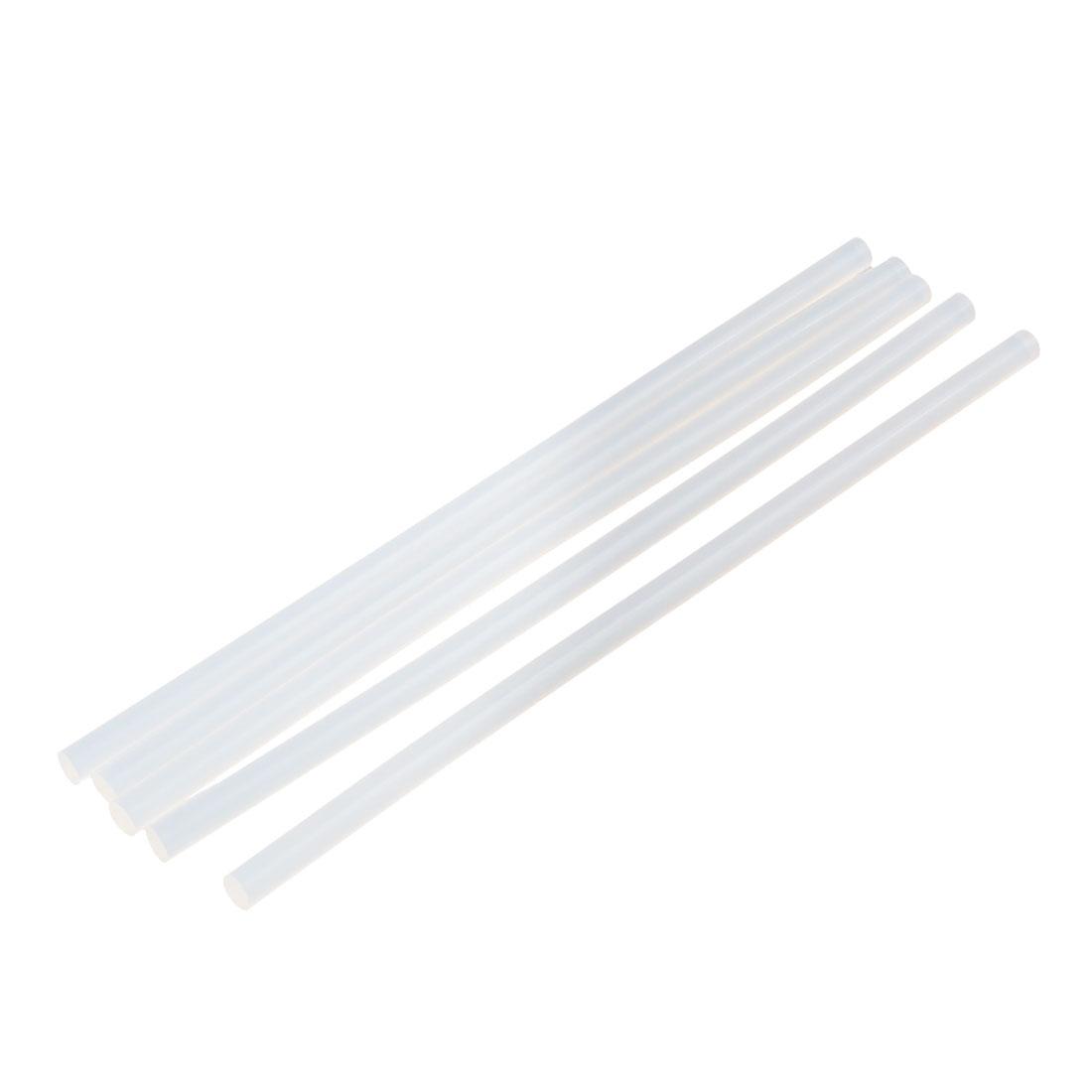 5 Pcs 7mm x 200mm Hot Melt Glue Adhesive Stick Clear for Electric Tool Heating Gun