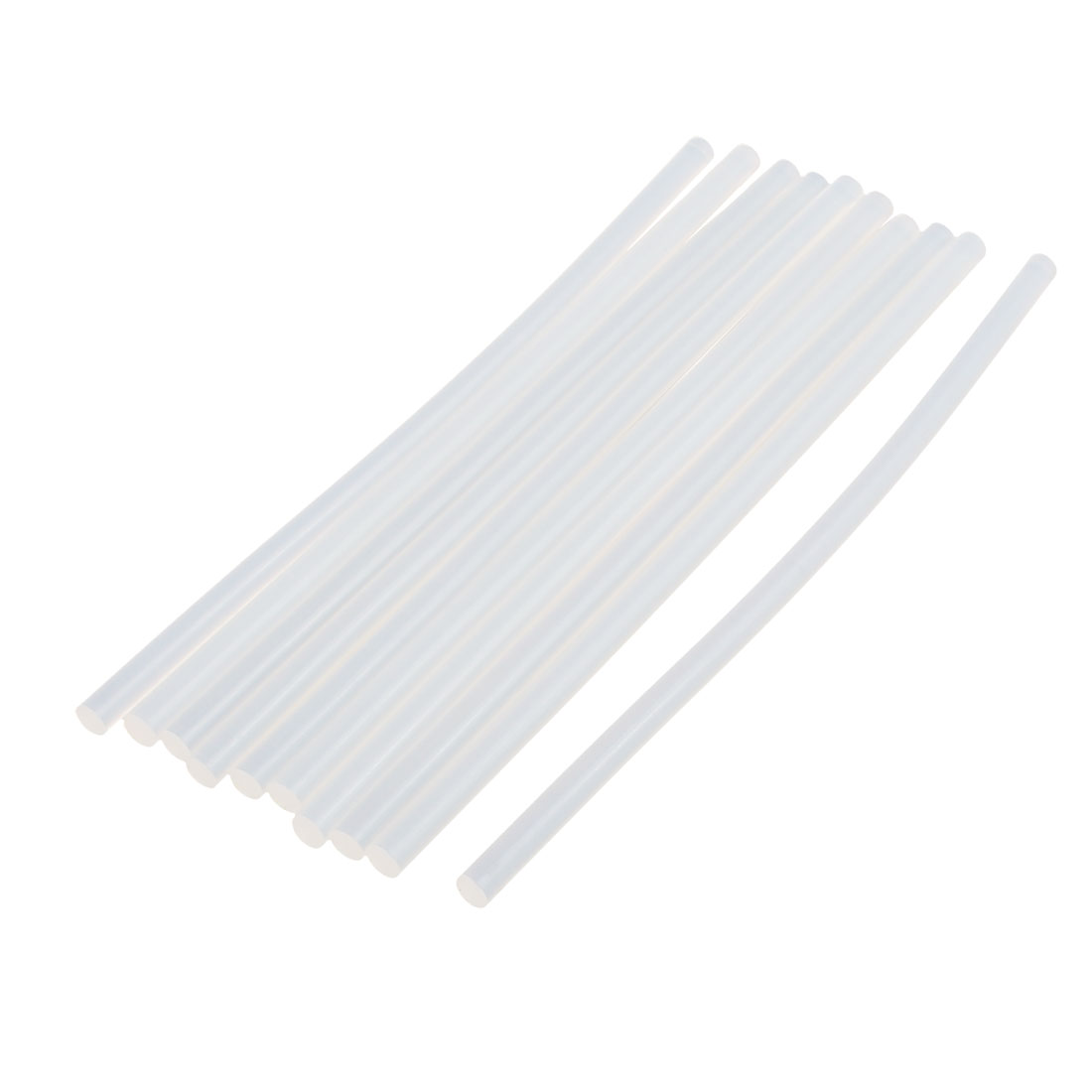 10 Pcs 7mm x 200mm Hot Melt Glue Adhesive Stick Clear for Electric Tool Heating Gun