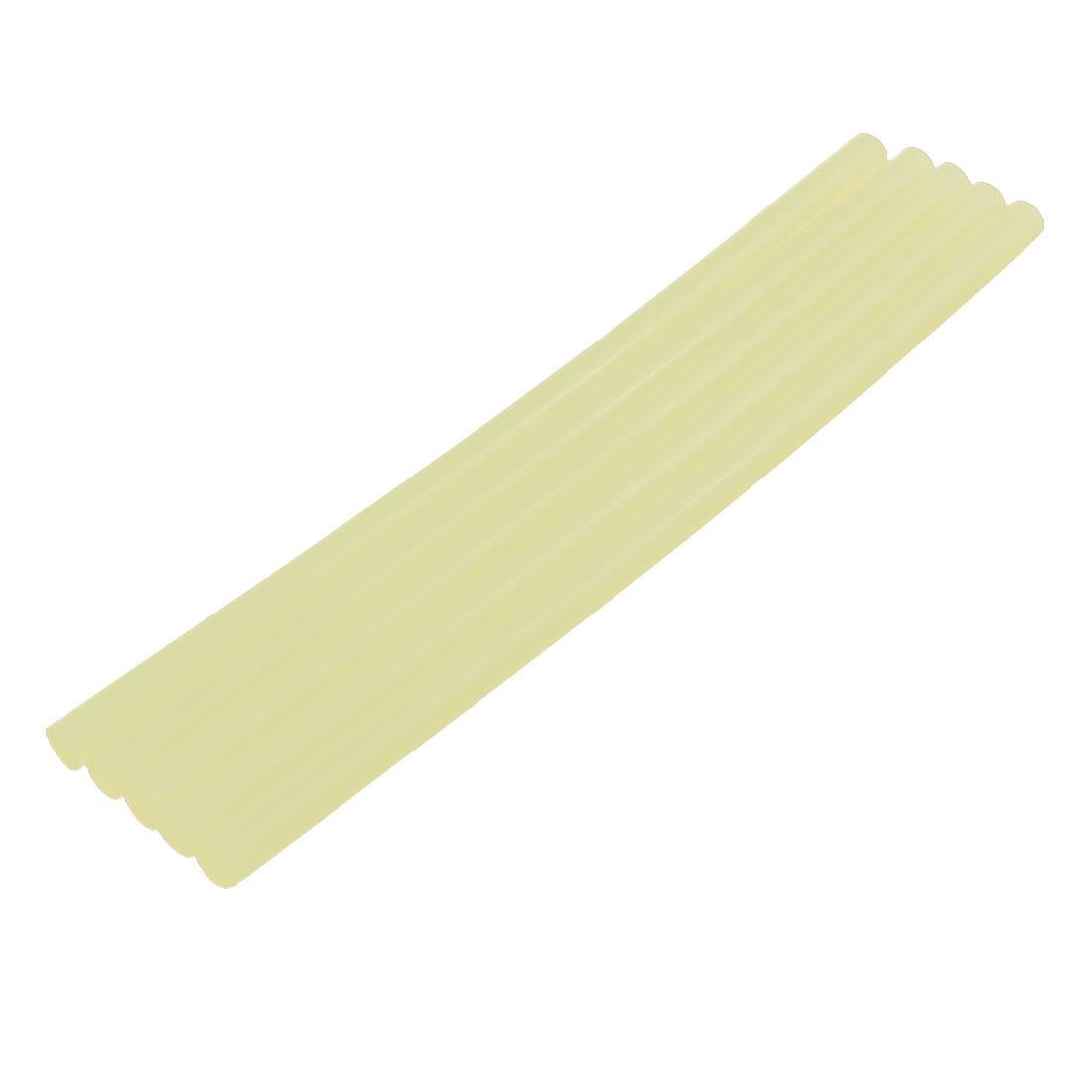 5 Pcs 11mm x 280mm Hot Melt Glue Adhesive Stick Yellow for Electric Tool Heating Gun