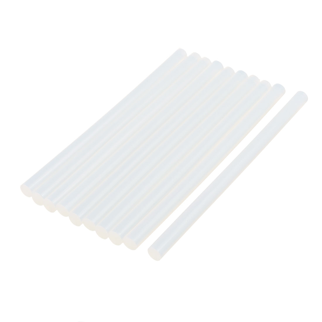 10 Pcs 11mm x 190mm Hot Melt Glue Adhesive Stick Clear for Electric Tool Heating Gun